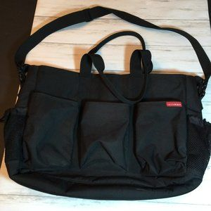 Skip Hop Large Roomy Diaper Baby Bag Black Red